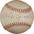 Autographs:Baseballs, 1940's Tris Speaker Single Signed Baseball. ...