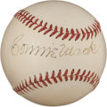 Autographs:Baseballs, Circa 1940 Connie Mack Single Signed Baseball, PSA/DNA NM 7....