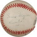 Autographs:Baseballs, 1944 Honus Wagner Single Signed Baseball, PSA/DNA EX+ 5.5....