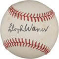 Autographs:Baseballs, 1970's Lloyd Waner Single Signed Baseball....