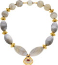 Estate Jewelry:Necklaces, Diamond, Ruby, Sapphire, Agate, Gold Necklace, Boucheron. ...
