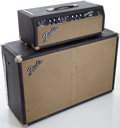 Musical Instruments:Amplifiers, PA, & Effects, 1966 Fender Bassman Blackface Guitar Amplifier Head and Cabinet, #A28050....
