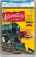 Golden Age (1938-1955):Superhero, Adventure Comics #142 (DC, 1949) CGC FN/VF 7.0 Off-white to white pages....