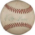 Autographs:Baseballs, Early 1950's Lefty Grove Single Signed Baseball....