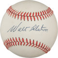 Autographs:Baseballs, Early 1980's Walt Alston Single Signed Baseball....