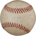 Autographs:Baseballs, 1960's Nellie Fox Single Signed Baseball, PSA/DNA EX-MT 6....