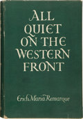 Books:Literature 1900-up, Erich Maria Remarque. All Quiet on the Western Front. Translated from the German by A. W. Wheen. London: G. P. P...