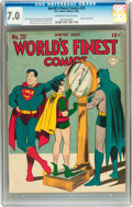 Golden Age (1938-1955):Superhero, World's Finest Comics #20 (DC, 1945) CGC FN/VF 7.0 Off-white to white pages....