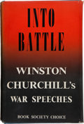 Books:World History, Winston Churchill. Complete Set of Churchill's War Speeches, including: Into Battle. [1941]. 313 pages. Slight lean ... (Total: 7 Items)