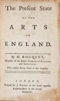 Books:Biography & Memoir, M. [Jean Andre] Rouquet. The Present State of the Arts inEngland. London: J. Norse, 1755. First English edition. Sm...
