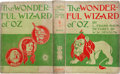 Books:Children's Books, L. Frank Baum. The Wonderful Wizard of Oz. Chicago and NewYork: George M. Hill Company, 1900. First edition, fi...