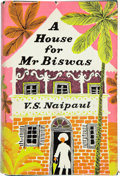 Books:Literature 1900-up, V. S. Naipaul. A House for Biswas. New York Toronto London:McGraw-Hill Book Company, Inc., [1961]. First editio...