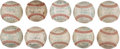 Autographs:Baseballs, 1951-60 Chicago Cubs Team Signed Baseballs Lot of 10....