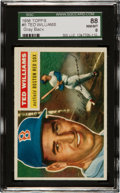 Baseball Cards:Singles (1950-1959), 1956 Topps Ted Williams, Gray Back #5 SGC 88 NM/MT 8....