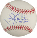 "Autographs:Baseballs, Jon Miller ""HOF 2010"" Single Signed Baseball. ..."