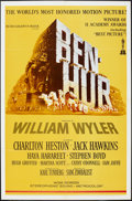 "Movie Posters:Academy Award Winners, Ben-Hur (MGM, R-1963). One Sheet (27"" X 41"") and Portrait Photo(10"" X 13""). Academy Award Winners.. ... (Total: 2 Items)"