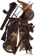 Western Expansion:Cowboy, Albert E. Sigal: An Amazing Set from an Identified Cowboy with aColt Single Action, Parker Double Barrel, Remington Rifle, Wi...(Total: 19 Items)