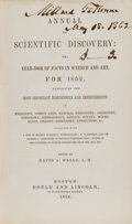 Books:Signed Editions, Millard Fillmore Twice Signed Copy of Annual of Scientific Discovery: or, Year-book of Facts in Science and Art....