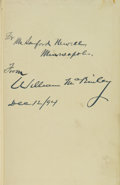 Books:Signed Editions, William McKinley Signed Presentation Copy of Speeches andAddresses of William McKinley....