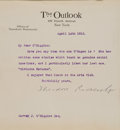 Books:Signed Editions, Theodore Roosevelt Typed Letter Signed Bound in AnAutobiography...