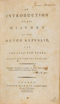 Books:Signed Editions, James Madison Signed Book from His Personal Collection: AnIntroduction to the History of the Dutch Republic, for theLa...