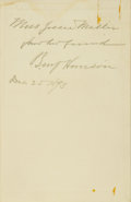 Books:Signed Editions, Benjamin Harrison Inscribed Presentation Copy of A TruthfulWoman in Southern California...