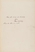 Books:Signed Editions, Grover Cleveland Inscribed Presentation Copy of The PublicPapers of Grover Cleveland....