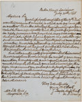 "Autographs:U.S. Presidents, Zachary Taylor Autograph Letter Signed ""Z. Taylor"" as MajorGeneral...."