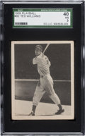 Baseball Cards:Singles (1930-1939), 1939 Play Ball Ted Williams #92 SGC 40 VG 3....