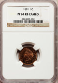 Proof Indian Cents, 1891 1C PR64 Red and Brown Cameo NGC. CAC. NGC Census: (2/2). PCGS Population (3/3). (#82362)...