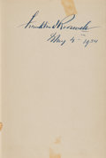 Books:Signed Editions, Franklin D. Roosevelt Signed Edition of Looking Forward...
