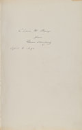 Books:Signed Editions, Grover Cleveland Inscribed The Public Papers of GroverCleveland: March 4, 1885, to March 4, 1889. ...