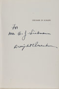 Books:Signed Editions, Dwight D. Eisenhower Signed Copy of Crusade in Europe. ...(Total: 2 Items)