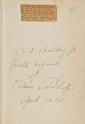 Books:Signed Editions, Calvin Coolidge Signed Presentation Copy of Have Faith inMassachusetts: Speeches and Addresses of Calvin Coolidge....