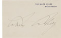 "Autographs:U.S. Presidents, Calvin Coolidge White House Card Signed ""CalvinCoolidge.""... (Total: 2 Items)"