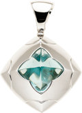Estate Jewelry:Pendants and Lockets, Blue Topaz, White Gold Pendant, Bvlgari. ...
