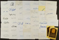 Autographs:Index Cards, Baseball Greats Signed Index And Postcard Lot Of 56....