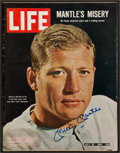 """Baseball Collectibles:Publications, Mickey Mantle Signed """"LIFE"""" Magazine...."""
