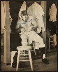 Baseball Collectibles:Photos, Mickey Mantle Signed Oversized Magazine Photograph....