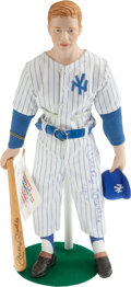 "Baseball Collectibles:Others, Mickey Mantle Signed ""Sports Impressions"" Porcelain Doll...."