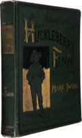Books:Literature Pre-1900, Mark Twain. Adventures of Huckleberry Finn. New York:Charles L. Webster and Company, 1885. First American edition w...
