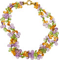 Estate Jewelry:Necklaces, Amethyst, Citrine, Peridot, Gold Necklace. ...