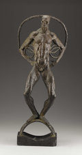 Miscellaneous, Trego. Hallows Eve. 20th Century. Bronze with Brown Patination. 30 x 11-1/2 x 5 inches. Inscribed Fundacion Campaiota...