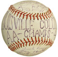 Autographs:Baseballs, 1946 Louisville Colonels Team Signed Baseball. The AA champs of1946 are represented here with the orb that we make availab...
