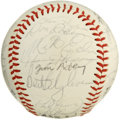 "Autographs:Baseballs, 1980 Pittsburgh Pirates Team Signed Baseball . Twenty-ninesignatures from the 1980 Pittsburgh Pirates, just after ""The Fam..."