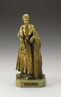 19th Century European, Meditation . . Antonin-Clair Forestier (French, 1865-1912).19th century. Bronze mounted on green marble base. 1...