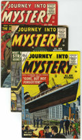 Golden Age (1938-1955):Horror, Journey Into Mystery #23, 27, and 28 Group (Marvel, 1953-55)....(Total: 3 Comic Books)
