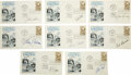 Basketball Collectibles:Others, Basketball Hall of Famers Signed First Day Covers Lot of 53. Greatgroup of signed First Day Covers courtesy of Basketball ...