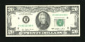 Error Notes:Ink Smears, Fr. 2072-H $20 1977 Federal Reserve Note. About Uncirculated.. ...