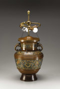 Asian, A Chinese Cloisonné Table Lamp. . 16 inches (40.6 cm). ...
